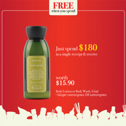 Mt. Sapola: Great Singapore Sale 2016 - FREE Body Lotion or Body Wash with $180 spend