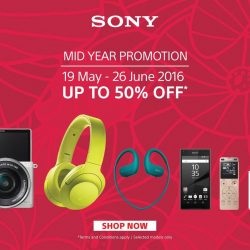 Lazada: Sony Days Mid-Year Promotion 2016 up to 50% OFF