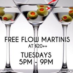 The Beacon: Tuesday Martini Free Flow for $20++ and 1for1 Draught Beers & House Pours during Happy Hour
