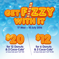Dunkin' Donuts: Enjoy savings with our combo deals of 6 or 12 donuts and Coca-Cola Drinks
