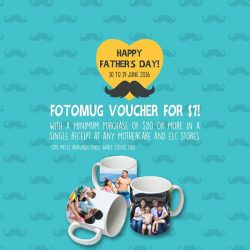 Mothercare: Get a Fotomug voucher for just $1 when you spend $80 and above