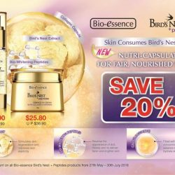 Pink Beauty: 20% discount Bio Essence Bird's Nest + Peptide range