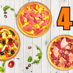 Pizza Hut Delivery: Mix and Match 4 Personal Pan Pizzas for $22