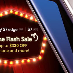 Singtel: Online Flash Sale $230 off Samsung Galaxy S7 edge & S7 with Combo 3 & above