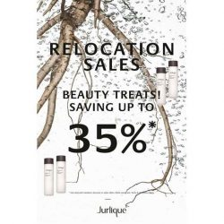Jurlique: Relocation Sales up to 35% OFF