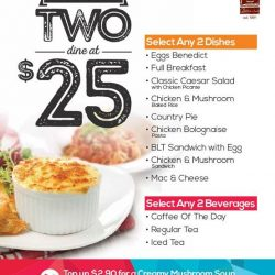 O' Coffee Club: GSS Special Two dine at $25