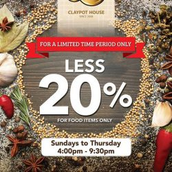 A-One Claypot House: Enjoy 20% off on food items from Sunday to Thursday