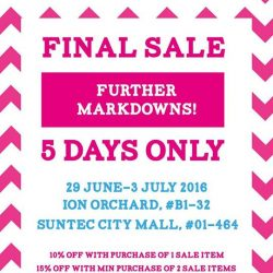 Samantha Thavasa: Final Sale at ION Orchard and Suntec City!