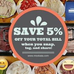 Mookata Thai BBQ: 5% off your total bill when you snap a dine-in picture at ORTO outlet