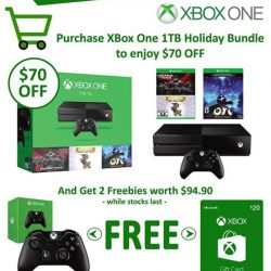 GameMartz: Enjoy $70 OFF + 2 Freebies with Purchase of XBox One Console 1TB Holiday Bundle