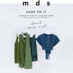 MDSCollections: Check out 3 selected items online to get additional 15% off