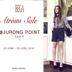 BEGA: Enjoy up to 70% off all items at Jurong Point Shopping Centre Atrium Sale