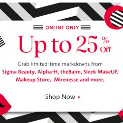 Sephora: Great Singapore Sale Up to 25% OFF Selected Products Online + Free Gift