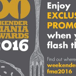 Weekender: Foodmania Awards Promotions