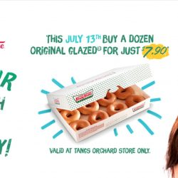 Krispy Kreme: 79th Anniversary Promo - Purchase a dozen Original Glazed doughnuts and get the second dozen at just $7.90