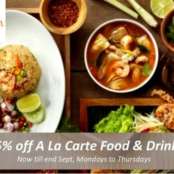 Siam Kitchen: 25% OFF a la carte food and drinks with OCBC Cards from Mondays to Thursdays