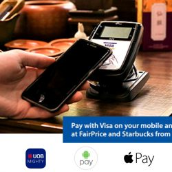 Visa: Mobile Offers - $2 OFF at FairPrice and Starbucks when you pay via Visa PayWave or with your Mobile