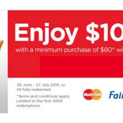 NTUC FairPrice: Coupon Code for $10 OFF with min. $80 Spend with MasterCard