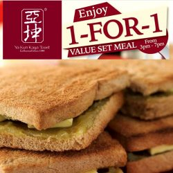 Ya Kun Kaya Toast: 1-for-1 Value Set Meal at Far East Square Outlet