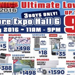 Singapore Expo: Electronics Expo 2016 Up to 90% OFF