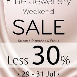 Isetan Scotts: Enjoy less 30% off Selected Diamonds and Pearls Jewellery