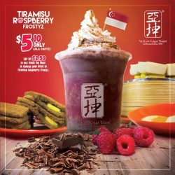 Ya Kun Kaya Toast: New Tiramisu Raspberry Frostyz at just $5.10