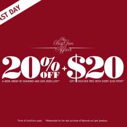 Poh Heng Jewellery: Enjoy 20% off selected gems and diamonds