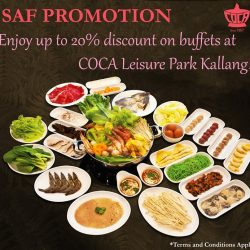 Coca: SAF Promotion - 20% OFF Lunch Buffet & 10% OFF Dinner Buffet