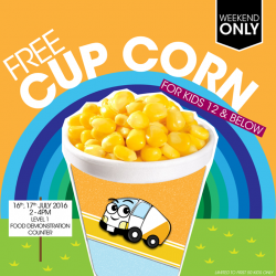 Gain City: Free Cup Corn for Kids 12 and Below