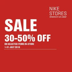 Nike: Seasonal Sale Up to 50% OFF Selected Items