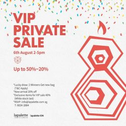 Lapalette: Anniversary VIP Event - 20% OFF Regular Items