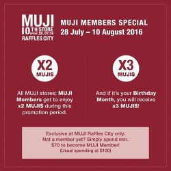 MUJI: Raffles City Grand Opening Exclusives and Special Buys