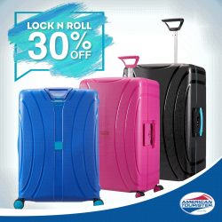 American Tourister: Lock n Roll at 30% off