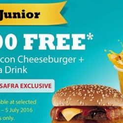 Carl's Jr : 4,000 FREE Western Bacon Cheeseburgers + Nestle Sjora Drinks for Safra Members