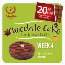 PrimaDeli: 20% OFF Chocolate Cake of the Week