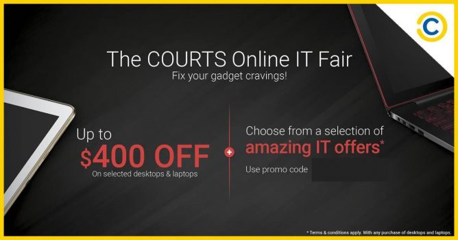 Courts: Coupon code for up to $400 OFF on selected desktops & laptops