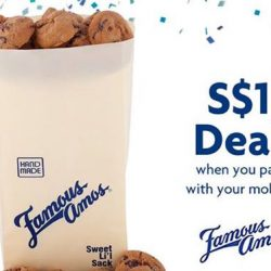 UOB: $1 for 100g of Famous Amos Cookies when you pay with UOB Mighty or Apple Pay