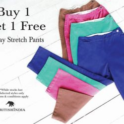 BritishIndia: Buy 1 Get 1 FREE 2-Way Stretch Pants