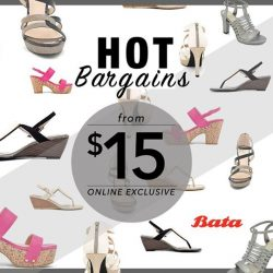 Bata: Hot Bargains from $15 Online!