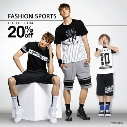 Bossini: Enjoy 20% off the Fashion Sports Collection