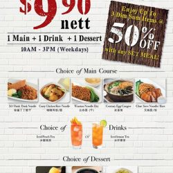 Bao Today: 3-Course Lunch Set for only $9.90 nett at Hotel Rendezvous