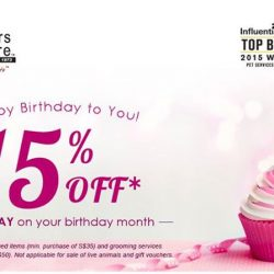 Pet Lovers Centre: VIP MEMBERS get a fantastic 15% off EVERYDAY on Birthday Month