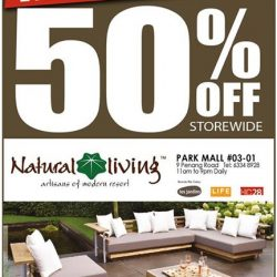 Natural Living: Moving out sale at Park Mall with 50% OFF Furniture!