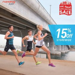 Running Lab: 15% OFF STOREWIDE at Running Lab Marina Square, Novena and Westgate