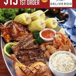 Tony Roma's: Coupon Code for $15 OFF Your First Delivery Order with Deliveroo