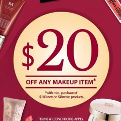 Missha: Get SGD20 off on any makeup item when you purchase SGD100 nett on skincare