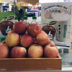 Jollibean: Fruit Day - Like FB Page to get a FREE Apple