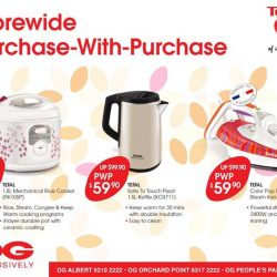 Tefal: OG Exclusive PWPs with $50 nett spend