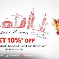 Flower Advisor: Get 10% OFF Storewide with Standard Chartered Card