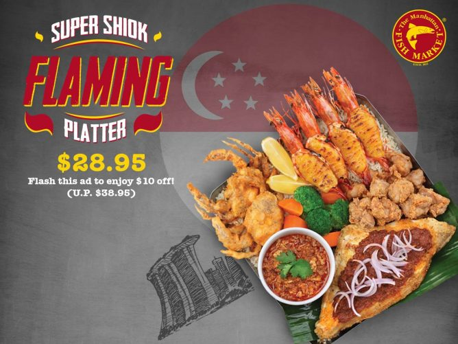 The Manhattan FISH MARKET: $10 OFF Super Shiok Flaming Platter